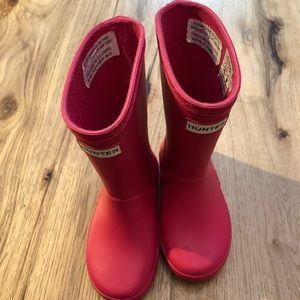 Hunter little girl size 8 rain boots. Pink